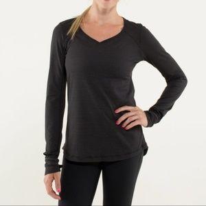 Lululemon Long Sleeve Striped V-Neck Shirt 4